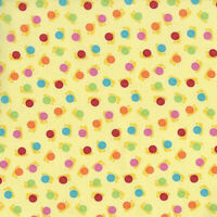 RJR Patchwork Fabrics Bugsy by Kids Quilts 2630 002 Yellow Dots ~ per long 1/4