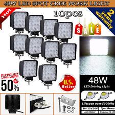 10X 48W Cree Spot LED Off Road Work Light Lamp 12V 24V Car Boat Truck Driving