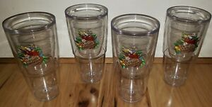 LOT OF 4 Margaritaville TERVIS Insulated WINE Glass 16 OZ. 5 O'Clock Somewhere