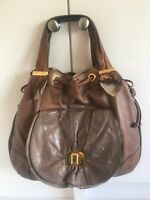 Large Juicy Couture Soft Brown Leather Hold-all Hobo Shoulder Hand Bag