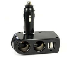 12V DC Car Charger Cigarette Lighter Double Power Adapter Socket Splitter 2 USB