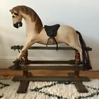 Vintage Rocking Horse with Real Horse Hair Tail