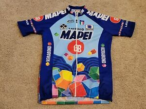 Vintage Sportful Mens Mapei Full Zip Cycling Jersey - Size Large