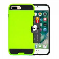 iPHONE 7/8 PLUS CASE WITH SLIDABLE CREDIT CARD HOLDER - LIGHT GREEN