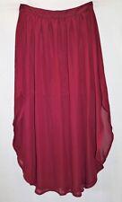 Supre Brand Wine Chiffon High Waisted Gathered Detail Skirt Size M BNWT #TC33