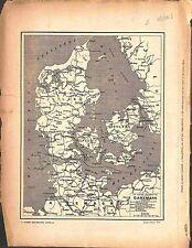 Map Carte Danemark Danmark Denmark 1918 WWI