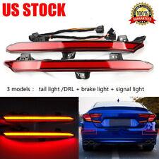 2PCS LED Rear Bumper Reflector Brake Tail Light Signal Lamp For Honda 18 19 USA