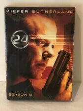 24 Complete Series DVD Season 5 Five TV Drama Starring Kiefer Sutherland