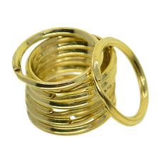 Solid Brass Keyring Split Rings Hoop Loop Key Keychain Holder 32mm 40mm 45mm