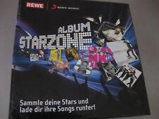 REWE Sony Music STARZONE ALBUM mit 27 Stickern top