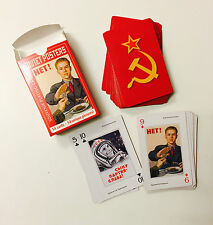 Soviet poster photo Russian Souvenir Russia 54 playing cards USSR