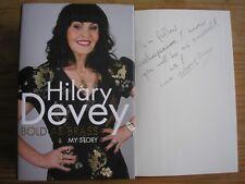 HILARY DEVEY - BOLD AS BRASS : MY STORY  1st/1st  HB/DJ  2012  SIGNED W/MESSAGE