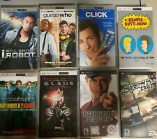 8 PSP UMD Movies, 3 games Lot PlayStation Portable PSP with cases!!