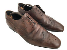 Russell & Bromley Brown Leather Brogue Shoes, Size 9 EU 43, RRP £195