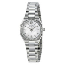 Bulova Women's Watch 96R199 Diamond Bezel Mother of Pearl Dial Bracelet Watch