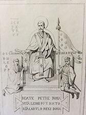 Estampe empire occident Charlemagne Saint Pierre Pape Léon milieu XIXe siècle