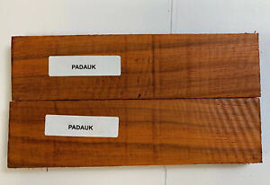 "1-1/2"" x 3/8"" x 6"" Padauk Lumber Blank DIY Material for Knifemakers Book Match"