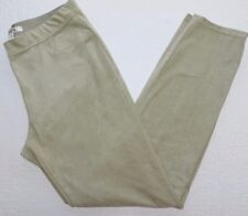 WOMENS tan faux suede stretch pull on PANTS = MAX STUDIO = XL xlarge - ab60