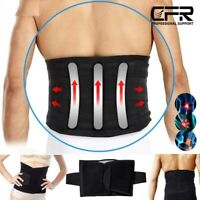 Lower Back Support Waist Brace Lumbar Belt Compression Sciatica Pain Relief CFR
