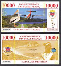 ★★ ILE DE SAINT BARTHELEMY : BILLET TEST POLYMER 10000 FRANCS ★