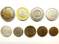 POLAND complete coin set 1+2+5+10+20+50 groszy +1+2+5 zlotych