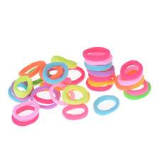 20X Hair Accessories For Girls Women Rubber Bands Ponytail Holder Hair Elastrw