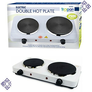 Hotplate Electric Portable Kitchen Double Hot Plate 2500 W Hot Plates for UK