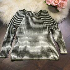 EILEEN FISHER Top Linen Blend Long Sleeve Knit Sweater Size Small