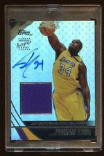 2004 TOPPS SHAQUILLE O'NEAL AUTO #D 01/25 REFRACTOR GAME JERSEY SWATCH AUTOGRAPH