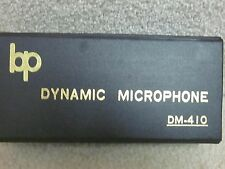BP DM-410 dynamic microphone- new 'old stock'in box with cable & holder