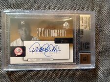 2004 SP AUTHENTIC DEREK JETER CHIROGRAPHY AUTOGRAPH AUTO GOLD /20 SP BGS 8.5 10