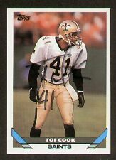 Toi Cook signed autographed Topps Football Card