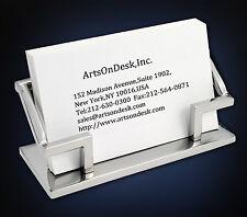 10ArtsOnDesk Modern Art Business Card Holder Mr101 Stainless Steel Mirror Polish