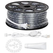 150ft LED Rope Lights Kit Super Bright led Strip Lamp Waterproof 110-120V AC