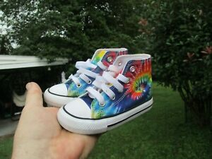 Converse All Star Baby Tye Dyed Size 6C WOW!!!