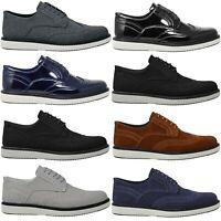 Mens Casual Grey Suede Party Black Designer Summer Brouges Smart Wedding Shoes
