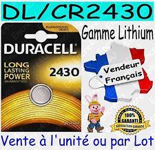 Piles DURACELL CR2430 DL2430 - Dispo aussi : CR1616 CR2016 CR2025 CR2032 CR2450