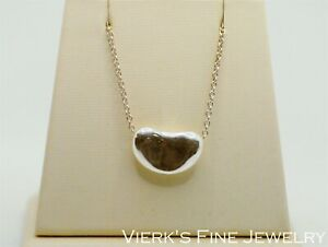 Tiffany & Co Elsa Peretti Bean Necklace Sterling Silver Large 925 Gift Idea 18mm