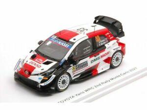 1/43 Spark Toyota Yaris WRC N°33 2è Rallye Monte Carlo 2021 E.Evans Liv Domicile