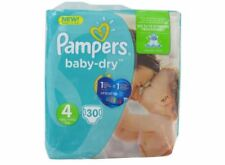 Lot Revendeur 3 paquets Couches Baby Dry Taille 4, Pampers x30