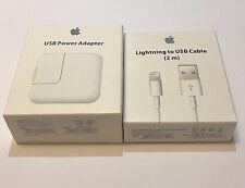 New OEM Apple 12W USB Power Adapter + 2M Lightning Cable iPad/iPhone