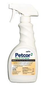 Petcor Flea and Tick Spray For Dogs, puppies, cats and kittens