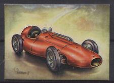 Ferrari 555 Racing Car 1955 Vintage 1950s Dutch Trading Card No.186