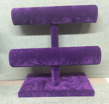 Double Bangle/Bracelet Jewellery Stand (Spring Purple)