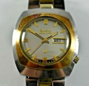 Vintage 1974 Bulova Accutron Tuning Fork 2182 Wrist Watch w/Original Band lot.7