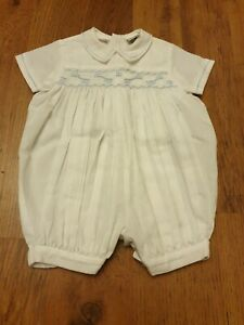 Sarah Louise Smocked Traditional Romper.3 Months