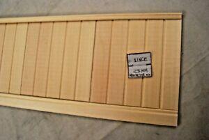 "TALL WAINSCOT SET 2 w/ Baseboard & Chair Rail - 22"" Long dollhouse 1/12 scale"