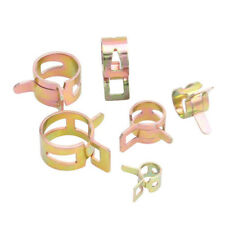 72PCS Spring Clip Water Pipe Fuel Hose Air Tube Clamp Fastener Steel 7-17mm KIT
