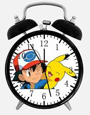 "Pokemon Pikachu Ash Alarm Desk Clock 3.75"" Home Office Decor E326 Nice For Gift"