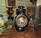 Original Antique Vtg MODEL T Kerosene Oil Lamp Black Carriage Lantern HEADLIGHT